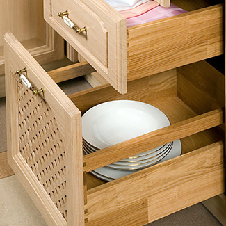 Solid oak drawers